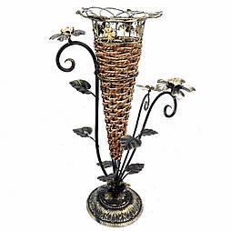 Напольная ваза кованная с рогантом 57см