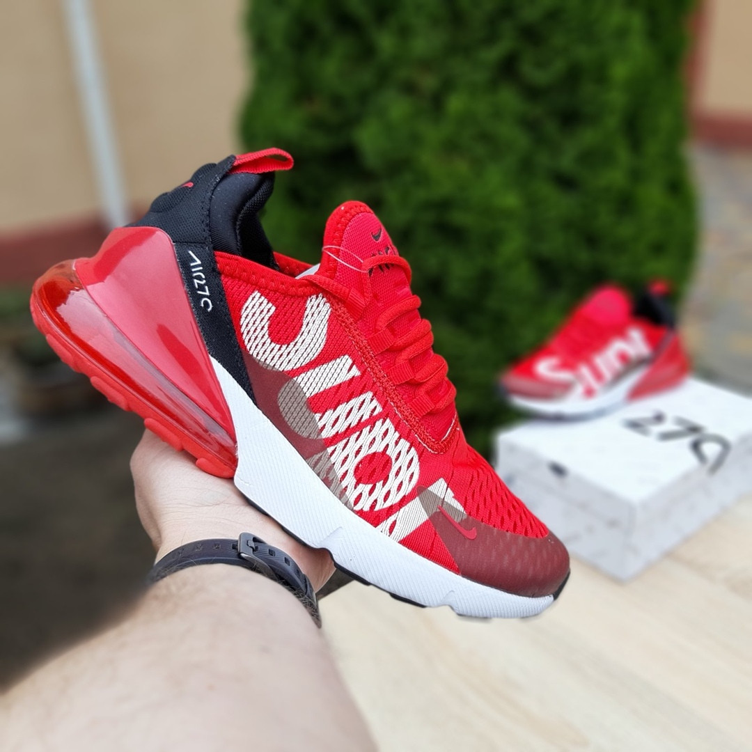 Мужские кроссовки Nike Air Max 270 Supreme (красные) 10169