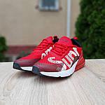 Мужские кроссовки Nike Air Max 270 Supreme (красные) 10169, фото 4