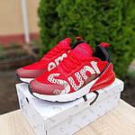 Мужские кроссовки Nike Air Max 270 Supreme (красные) 10169, фото 6