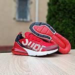 Мужские кроссовки Nike Air Max 270 Supreme (красные) 10169, фото 7