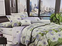 Комплект постельного белья полуторный Бязь хлопок 100% Беларусь 150*215 Белые цветы