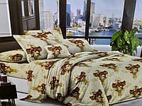 Комплект постельного белья полуторный Бязь хлопок 100% Беларусь 150*215 Золото