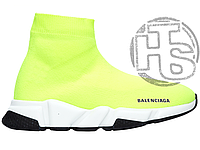 Женские кроссовки Balenciaga Speed Trainer Yellow BB