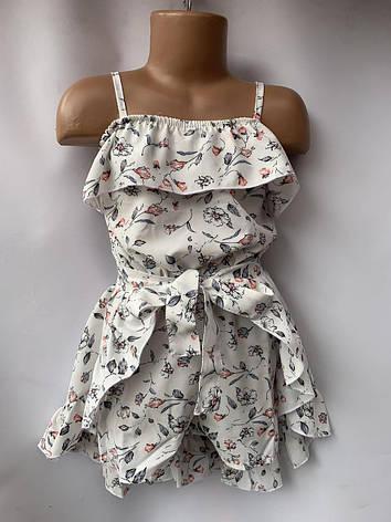 Комплект для девочки комбез и юбка цветок р.5-8 лет, фото 2