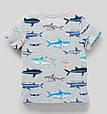 Детская футболка с акулами для мальчика C&A Германия Размер 110, 116, фото 2
