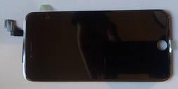 Дисплей модуль iPhone 6 plus в зборі з тачскріном чорний, оригінал (переклеєне скло)