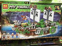 Конструктор Minecraft bela 11139 Майнкрафт Сражение на корабле, 630 деталей, 4 фигурки, 53 x 31 x 7 см