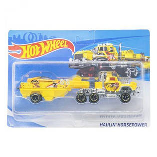 "Машинка-тягач с прицепом ""Hot Wheel TRUCK "" (Хот вилс желтый) T-E757-1"