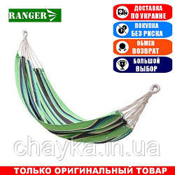 Подвесной гамак King Camp Canvas Hammock green black; 200х100. Гамак King Camp KG3752GB.
