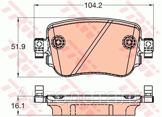 Колодки тормозные, дисковый тормоз (компл.) GDB2042