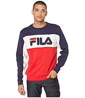 Толстовка Fila Lesner Fleece Navy/Chinese Red/White - Оригинал