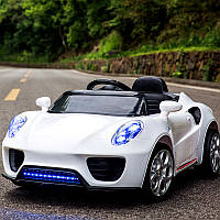 """Детский электромобиль Tilly """"Porsche"""" музыкальный T-7622 EVA WHITE с пультом управления 117*63*45"""