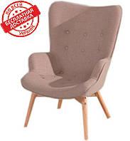 Дизайнерское кресло Флорино коричневый кашемир ножки бук СДМ группа(бесплатная доставка)