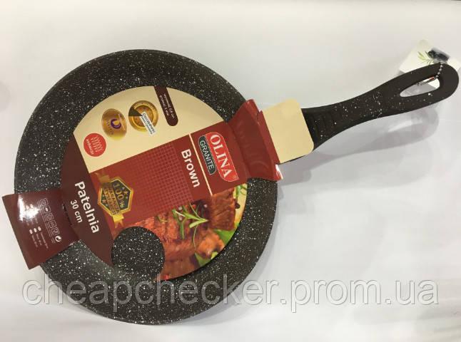 Сковорода Olina Гранит Brown 30 См Антипригарное Покрытие