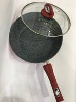 Сковорода Вок З Кришкою WOG Діаметр 24 См З Антипригарним Покриттям