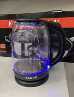 Стеклянный Электрический Чайник Banoo BN 2020 С Подсветкой, фото 1