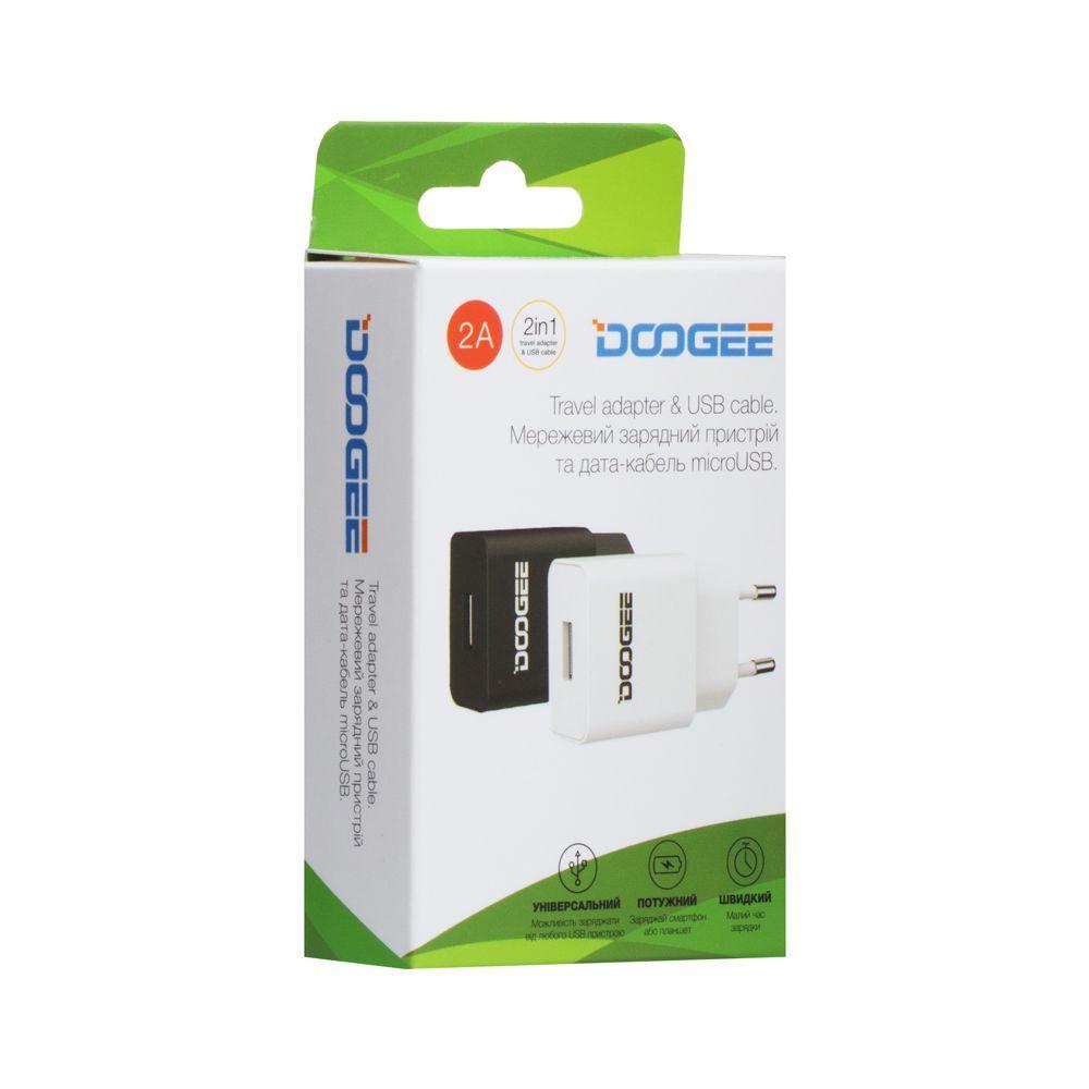 Сетевое зарядное устройство Doogee YJ-06 Micro (2A, черное)
