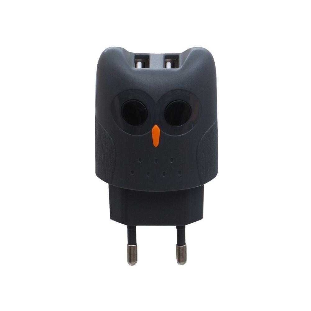 Сетевое зарядное устройство Kiki Belief KC1A (2USB, 2.1A, серое)