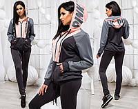Женский стильный спортивный костюм до больших размеров, фото 1