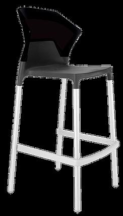 Барный стул Papatya Ego-S антрацит сиденье, верх черный, фото 2