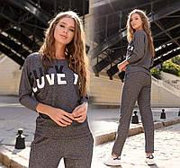 Женский стильный спортивный костюм демисезон до больших размеров, фото 1