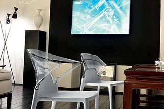 Кресло Papatya Ego-K белое сиденье, верх прозрачно-красный, фото 2