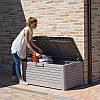 Сундук пластиковый Florida 550 л теплый серый Toomax, фото 3