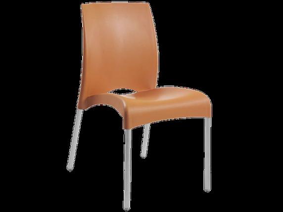 Стул Papatya Vital-S оранжевый 16 алюминиевые ножки, фото 2