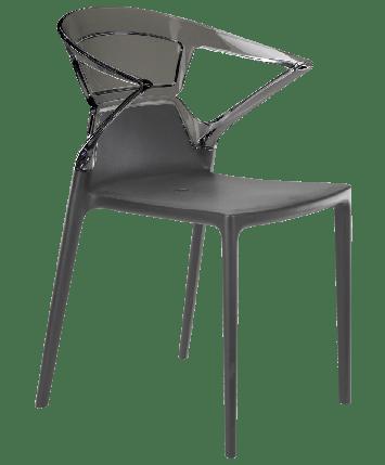 Крісло Papatya Ego-K антрацит сидіння, верх прозоро-димчастий, фото 2