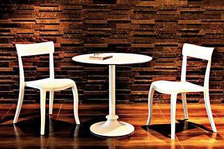 Стул Papatya Hera-S песочно-бежевое сиденье, верх прозрачно-красный, фото 2
