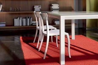 Стул Papatya Hera-S песочно-бежевое сиденье, верх прозрачно-красный, фото 3