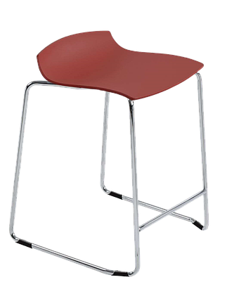 Барное кресло Papatya X-Treme Sled матовый красный кирпич, фото 2