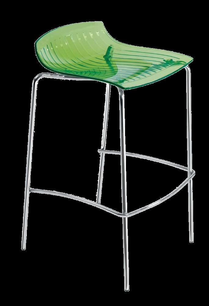 Барный стул Papatya X-Treme BSS прозрачно-зеленый