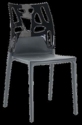 Стул Papatya Ego-Rock антрацит сиденье, верх черный, фото 2