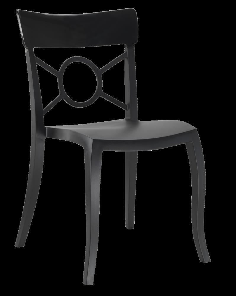 Стул Papatya Opera-S сиденье черное, верх черный
