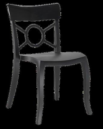 Стул Papatya Opera-S сиденье черное, верх черный, фото 2