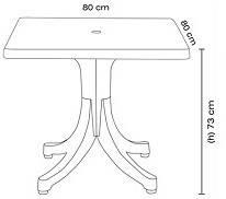 Стол квадратный Papatya Фавори 80x80 белый, фото 2