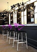 Барное кресло Papatya Ego-K черное сиденье, верх прозрачно-зеленый, фото 3
