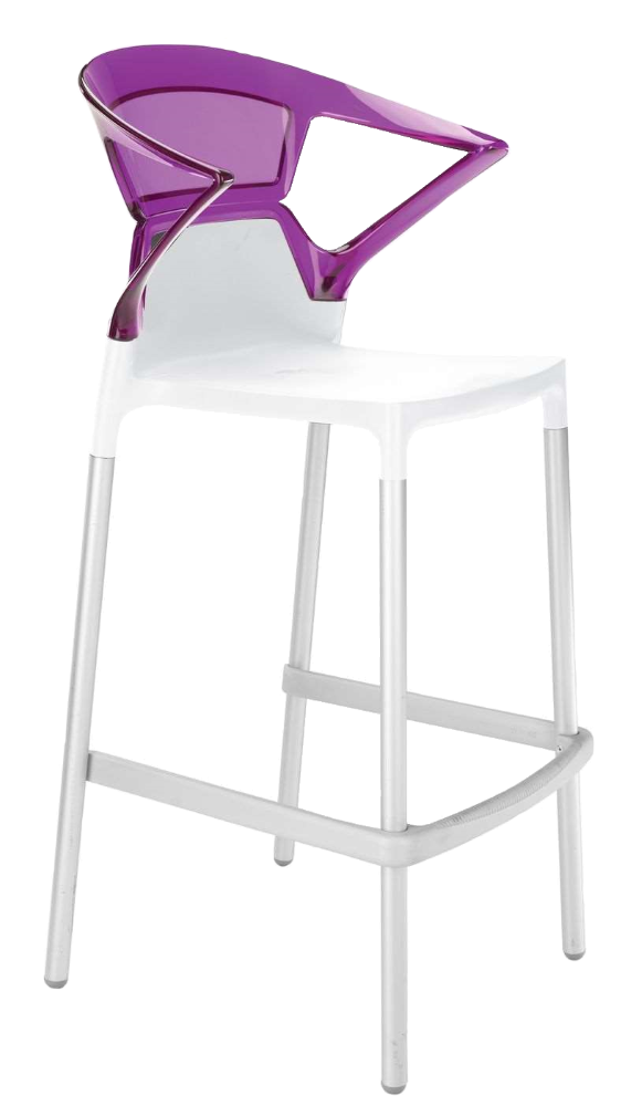 Барне крісло Papatya Ego-K біле сидіння, верх прозоро-пурпурний