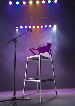 Барное кресло Papatya Ego-K белое сиденье, верх прозрачно-пурпурный, фото 2