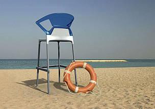 Барне крісло Papatya Ego-K біле сидіння, верх прозоро-пурпурний, фото 2