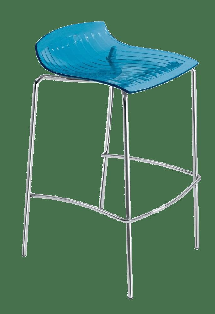 Барный стул Papatya X-Treme BSS прозрачно-синий
