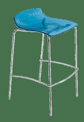 Барный стул Papatya X-Treme BSS прозрачно-синий, фото 2