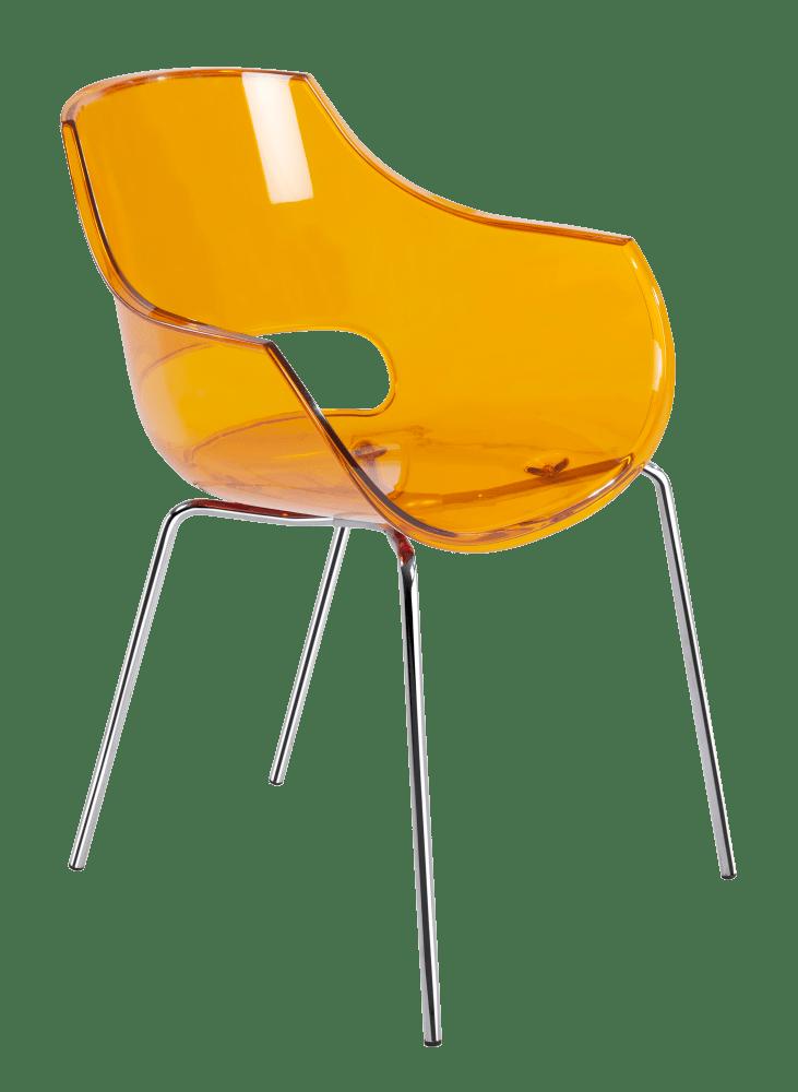 Кресло Papatya Opal прозрачно-оранжевое