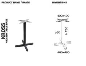 База стола Kross 48x48x73 см антрацит Papatya, фото 2