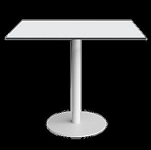 База стола Lotus Round d60x73 см белая Papatya