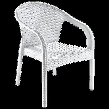 Кресло Irak Plastik Ege под ротанг белый, фото 2
