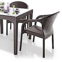 Кресло Irak Plastik Ege под ротанг белый, фото 3