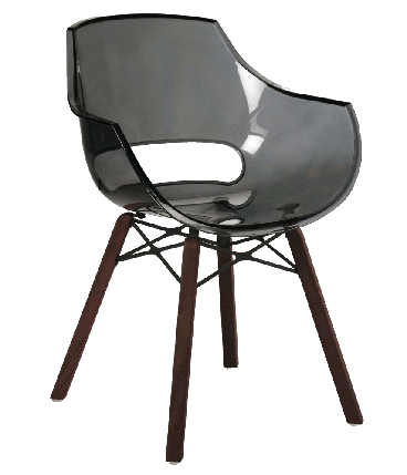 Кресло Papatya Opal Wox Iroko прозрачно-серое, фото 2